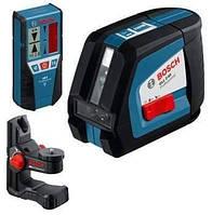 Линейный лазерный нивелир (построитель плоскостей) Bosch GLL 2-50 + BM1 + LR2 в L-Boxx (0601063109)