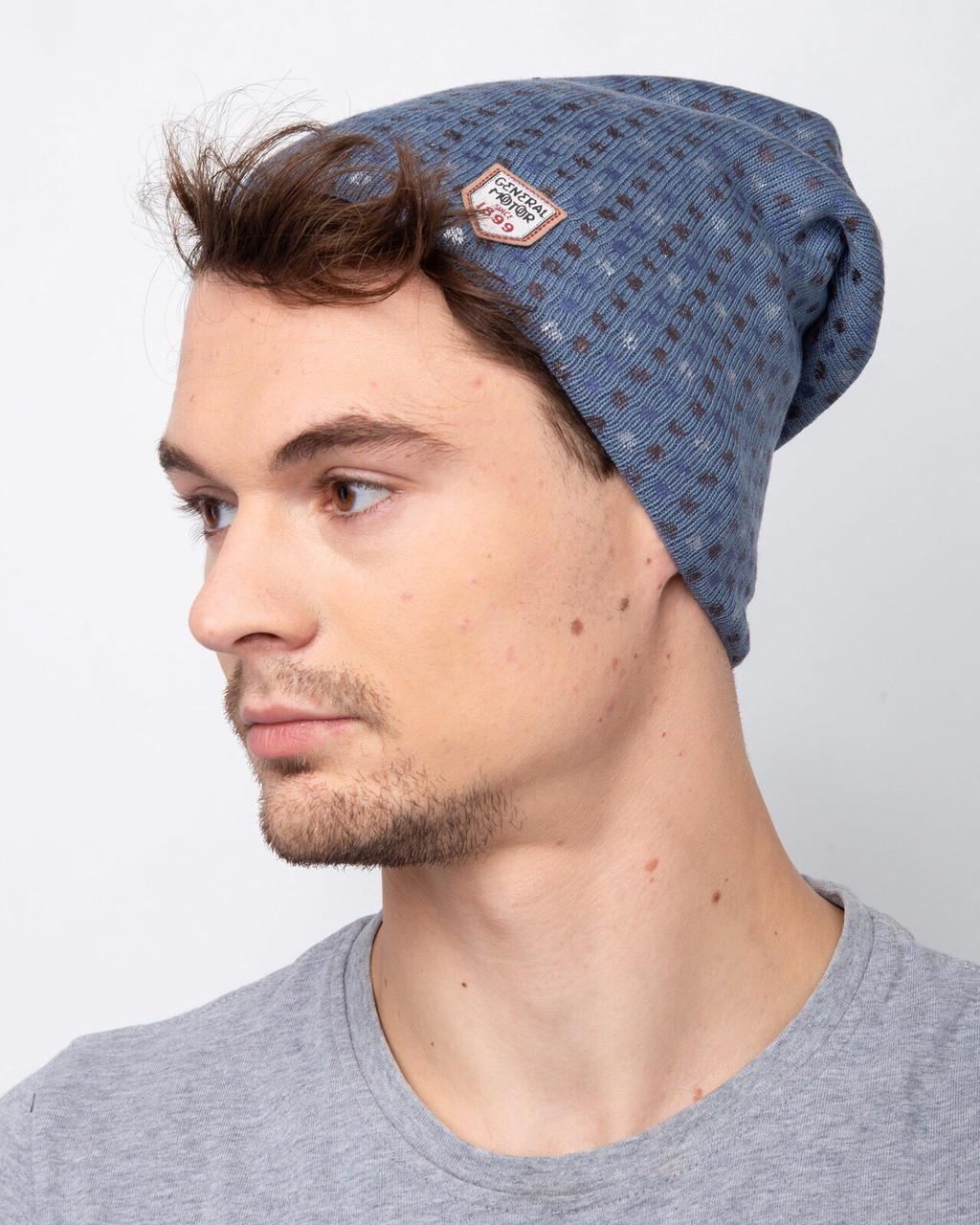 Мужская шапка на зиму на флисе  - Артикул 2461