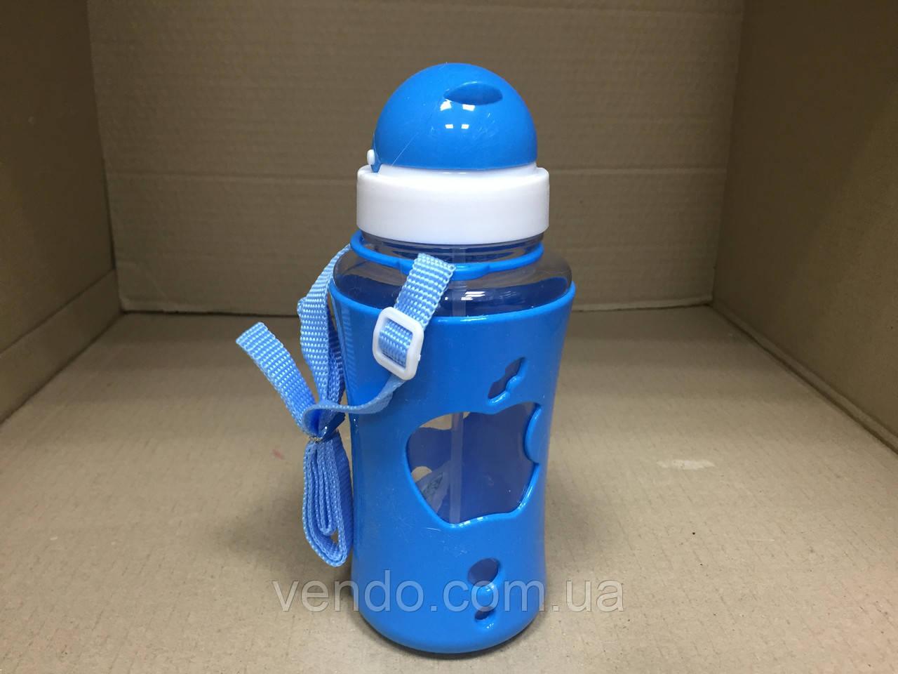 Бутылка для воды с силиконовой поилкой APPLE 520 мл.