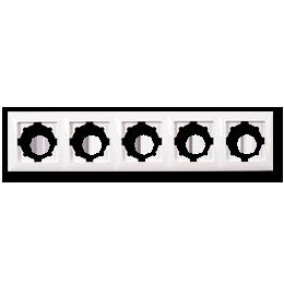 Рамка 5-на біла універсальна Gunsan Visage