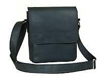 Мужская повседневная сумка GS кожаная черная
