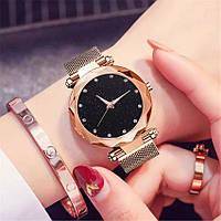 Женские часы на магнитной застежке Starry Sky золотые, жіночий годинник наручные часы Звездное небо на магните