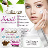 НАБОР: Коллаген + муцин улитки ( крем + сыворотка ) Snail Collagen - омоложение+увлажнение+питание+анти акне, фото 2