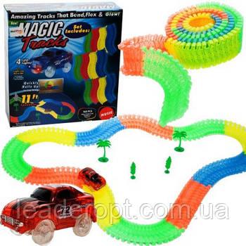 [ОПТ] Дитяча гоночна траса Magic Tracks на 168 деталей з машинкою. Світиться гоночний трек-конструктор.