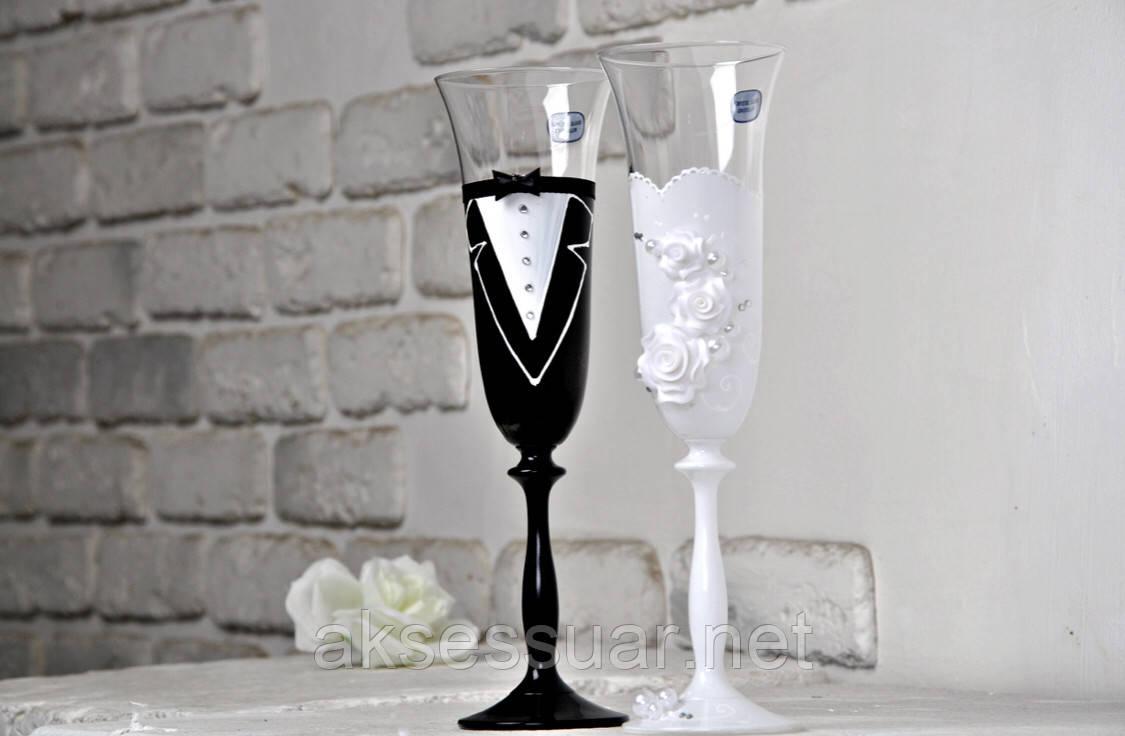 Бокалы свадебные для шампанского