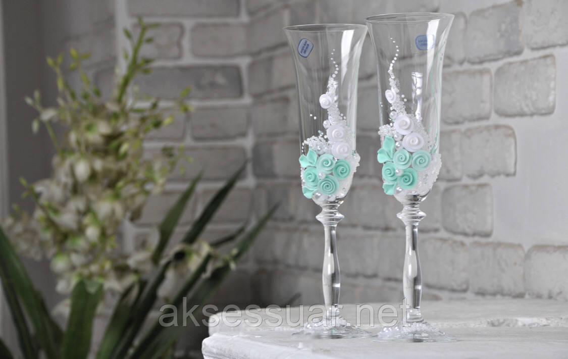 Весільні бокали ручної роботи