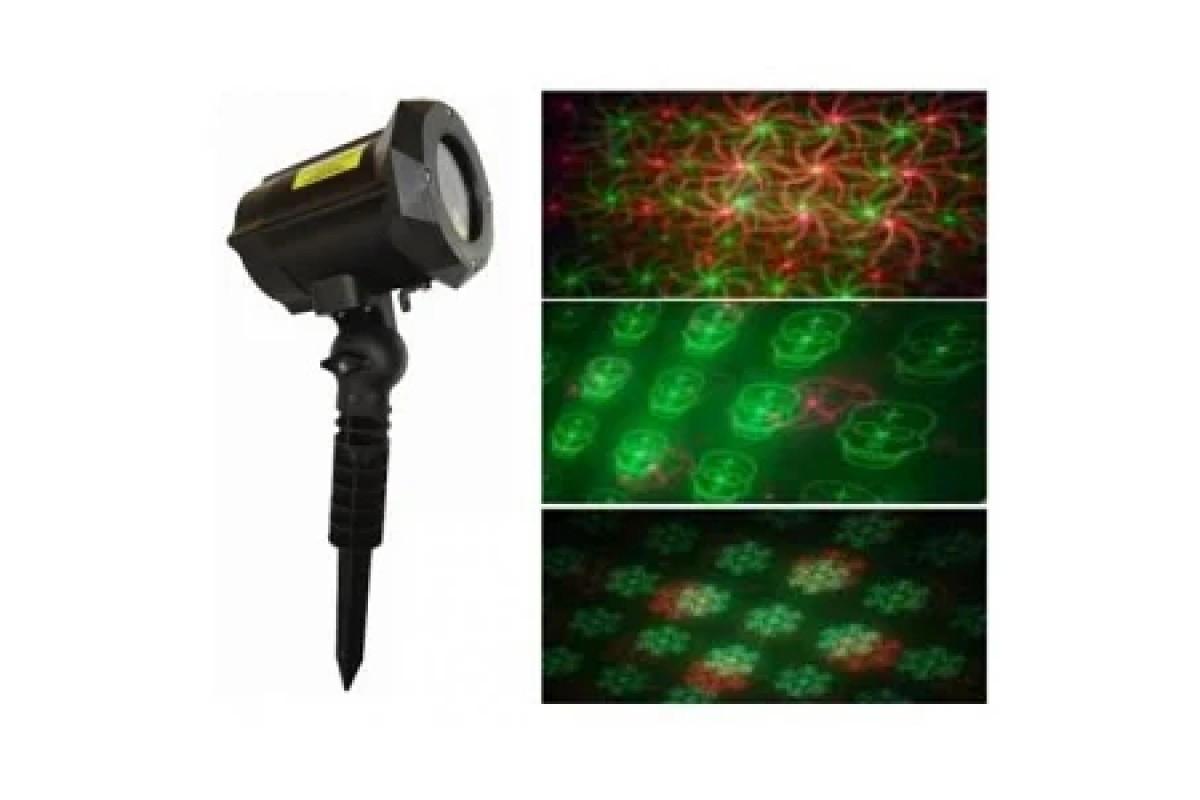 Новогодняя уличная лазерная проэктор RD-7188 (12 рисунков)