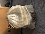 Белая шапка зимняя на флисовой подкладке, фото 2