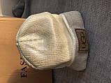 Белая шапка зимняя на флисовой подкладке, фото 5