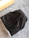 Бордовая шапка перламутр на флисовой подкладке теплая с помпоном, фото 6