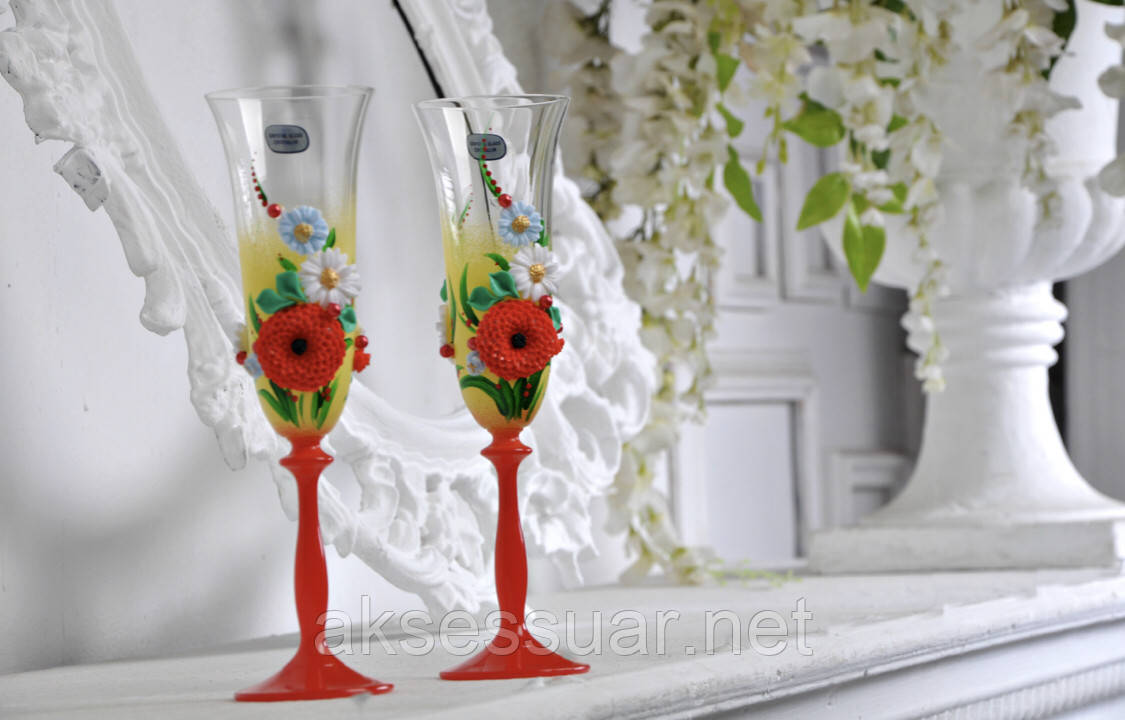 Свадебные бокалы для шаманского