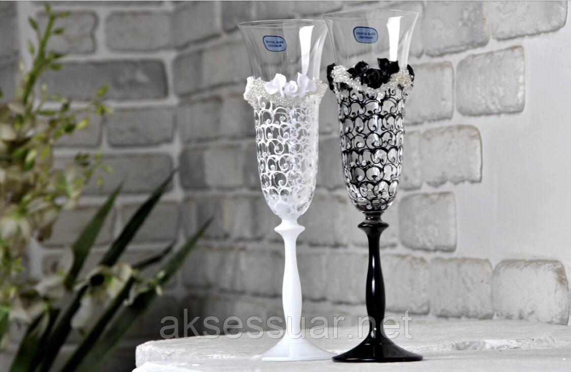 Весільні бокали для шампанського