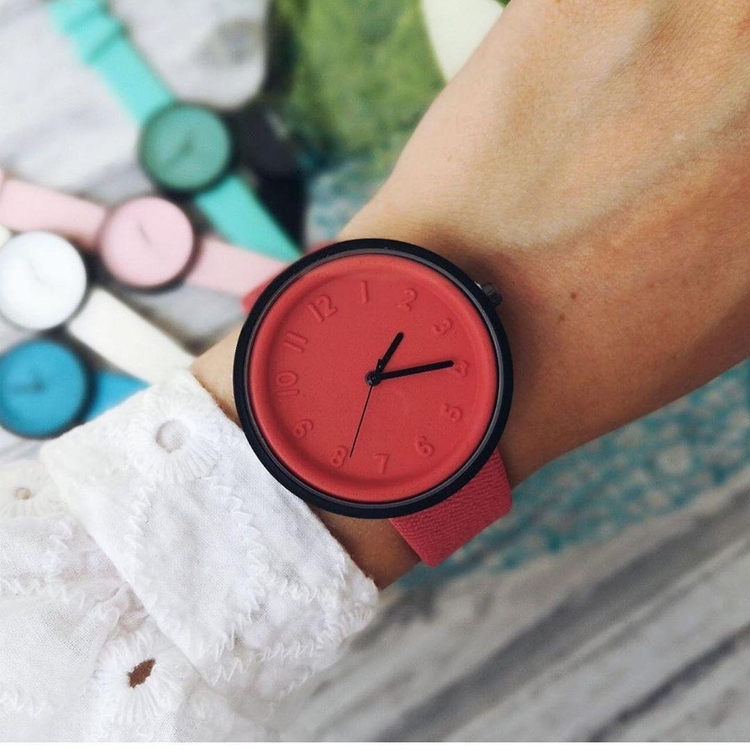 Женские часы Casual style красные, жіночий наручний годинник, женские наручные часы