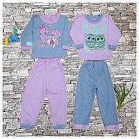Пижама детская с легкого кулира, летняя.