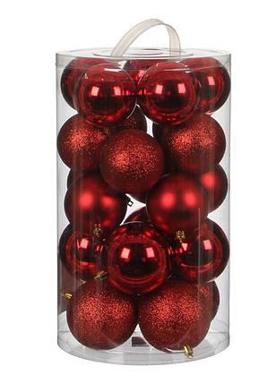 """Елочные шарики """"House of Seasons"""" комплект 23 шт, цвет красный, фото 2"""