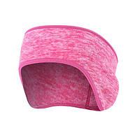 Cпортивная флисовая повязка на голову Warmer Pink Melange