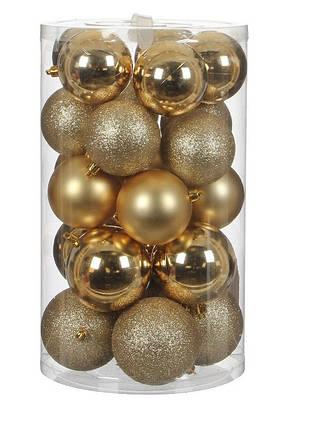 """Елочные шарики """"House of Seasons"""" комплект 23 шт, цвет золотой, фото 2"""