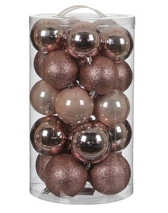 """Елочные шарики """"House of Seasons"""" комплект 23 шт, цвет розовый, фото 2"""