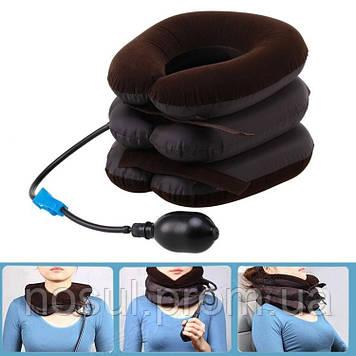 Тройная надувная подушка вытягивающая воротник для шеи остеохондроз, облегчение боли в шее, для путешествий