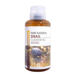 Очищуюча вода з равликовим муцином FarmStay Pure Natural Snail cleansing water