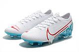 Бутсы Nike Mercurial Vapor XIII Elite FG white/aqwa, фото 2