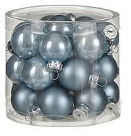 """Елочные шарики """"House of Seasons"""" комплект 24 шт, цвет синий"""