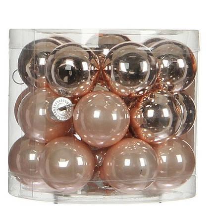 """Елочные шарики """"House of Seasons"""" комплект 24 шт, цвет розовый, фото 2"""