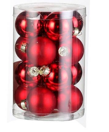 """Елочные шарики """"House of Seasons"""" комплект 16 шт, цвет красный, фото 2"""