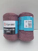 Пряжа YarnArt Macrame Cotton Lurex 743 (Ярнарт Макраме Коттон Люрекс) шнур для макраме с люрексом