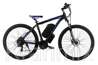 "Электровелосипед E-MOTION MTB27,5 GT 36V 12AH 500W / РАМА 19""  Черно-синий"