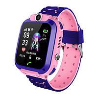 Смарт-часы Smart  Watch Q12 GPS с камерой Розовый