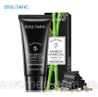Очищаюча маска плівка Bisutang Black Bamboo Charcoal від чорних точок 60 g