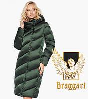 Воздуховик Braggart Angel's Fluff 30952 | Зимняя куртка женская зеленая, фото 1