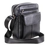 Мужская кожаная сумка черного цвета, фото 2