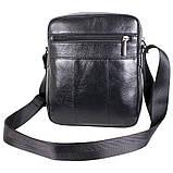Мужская кожаная сумка черного цвета, фото 5