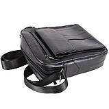 Мужская кожаная сумка черного цвета, фото 6