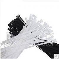 Стяжки упаковочные Nylon cable tie 3*200, (белые, черные), пластик, стяжки кабельные, Стяжка, фурнитура
