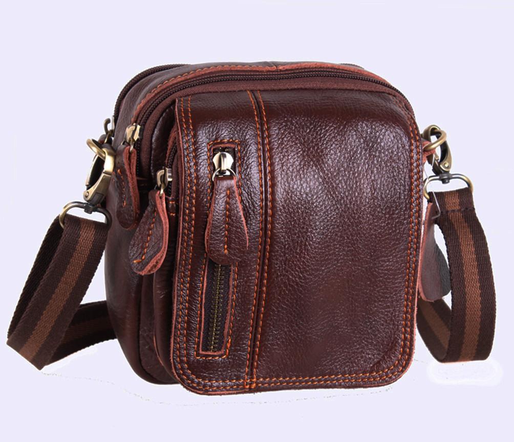 Мужская кожаная сумка Dovhani Dov-673 Коричневая