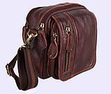 Мужская кожаная сумка Dovhani Dov-673 Коричневая, фото 2