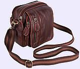 Мужская кожаная сумка Dovhani Dov-673 Коричневая, фото 3