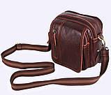 Мужская кожаная сумка Dovhani Dov-673 Коричневая, фото 4