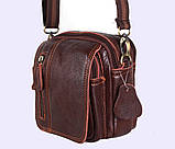 Мужская кожаная сумка Dovhani Dov-673 Коричневая, фото 5