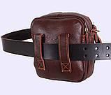 Мужская кожаная сумка Dovhani Dov-673 Коричневая, фото 7