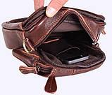 Мужская кожаная сумка Dovhani Dov-673 Коричневая, фото 9