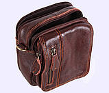Мужская кожаная сумка Dovhani Dov-673 Коричневая, фото 10