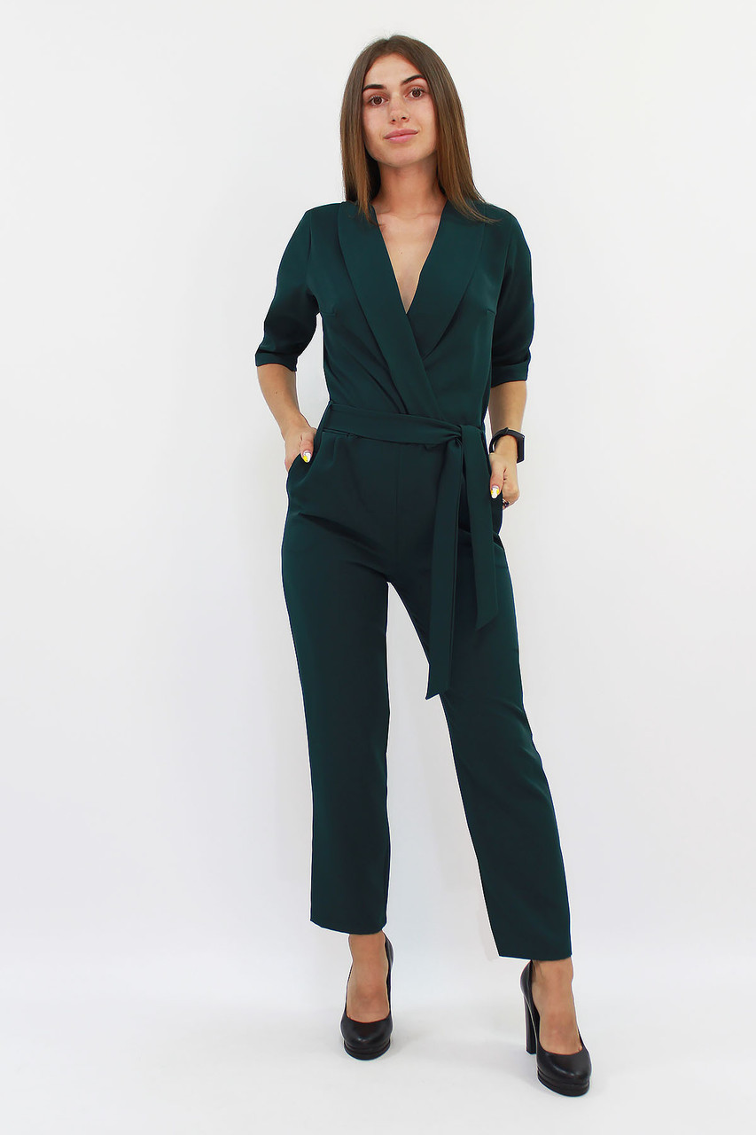 (S, M, L) Стильний зелений жіночий комбінезон