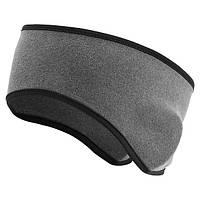 Cпортивная флисовая повязка на голову Warmer Lux Gray