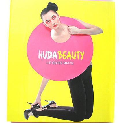 Набор матовых помад Huda Beauty lip gloss matte