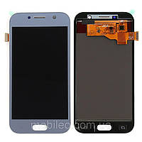 Дисплей (LCD) Samsung GH97-19733C A520 Galaxy A5 (2017) AMOLED с тачскрином, голубой (сервисный оригинал)