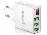 Умное зарядное USB устройство Powstro 5В 3A  Белый